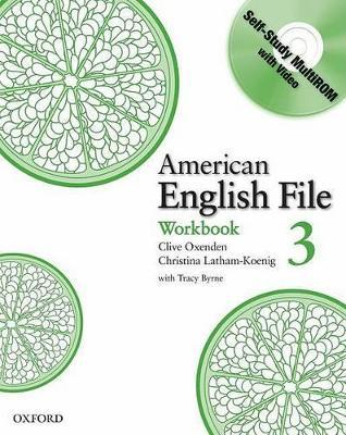 American English File Level 3: Workbook with Multi-ROM Pack