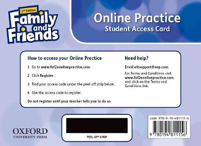 Family and Friends: Level 1: Online Practice Student Access Card