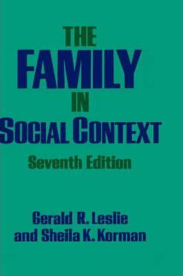The Family in Social Context