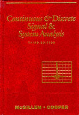 Continuous and Discrete Signal and System Analysis
