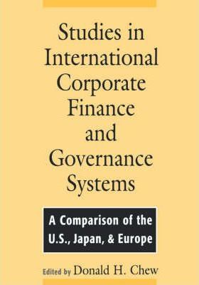 Studies in International Corporate Finance and Governance Systems