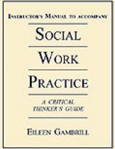 Social Work Practice Instructors Manual