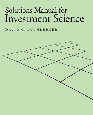 Solutions luenberger investment science answers khyber pass investments limited