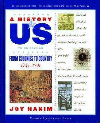 History of Us Book Three from Colonies to Country Third Ed