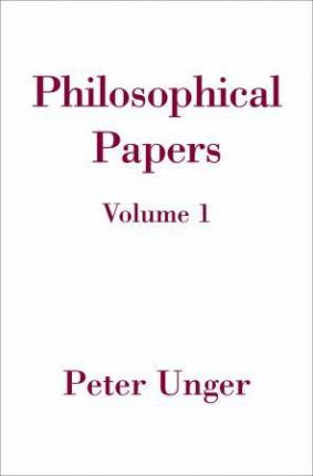 Philosophical Papers: Volume One