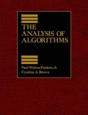 The Analysis of Algorithsm