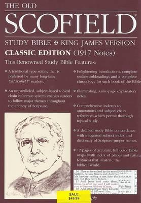 The Old Scofield (R) Study Bible, KJV, Classic Edition - Bonded Leather, Navy