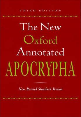 New Oxford Annotated Apocrypha Third Edition New Revised