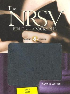 The New Revised Standard Version Bible with Apocrypha: Pocket Edition, Genuine Leather Black