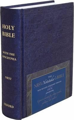 NRSV Notetaker's Bible 9855a Deluxe Cloth