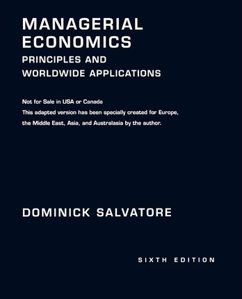 Managerial Economics  Principles and Worldwide Applications