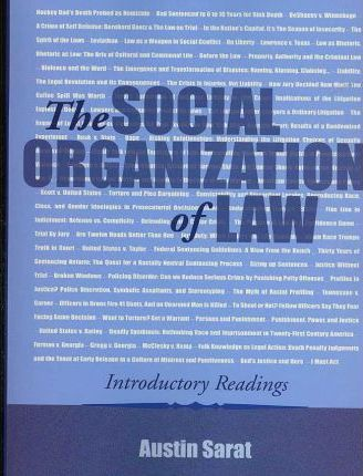 The Social Organization of Law