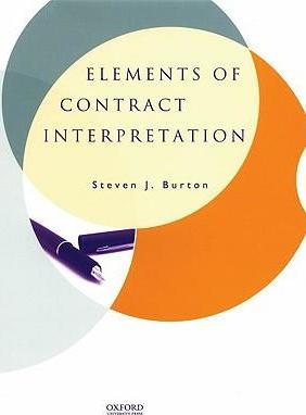 Elements of Contract Interpretation