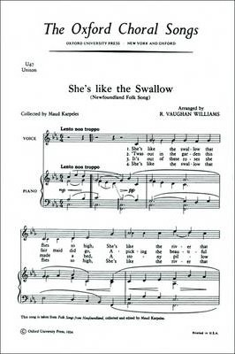 She's Like the Swallow: Vocal Score