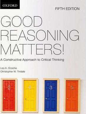 Good Reasoning Matters!:: A Constructive Approach to Critical Thinking