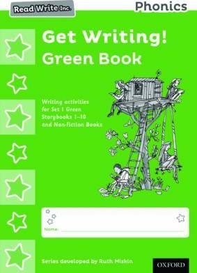 Read Write Inc. Phonics Get Writing! Green Book Pack of 10