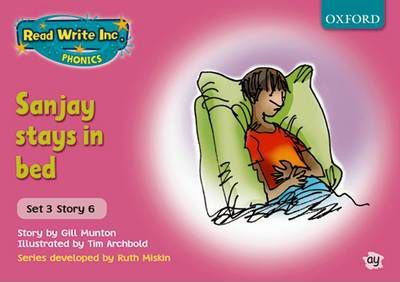 Read Write Inc. Phonics: Pink Set 3 Storybooks: Sanjay Stays in Bed