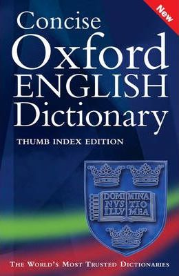 Concise Oxford English Dictionary: Thumb Index Premium Edition
