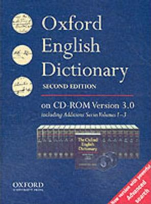 The Oxford English Dictionary: Single User Windows Version
