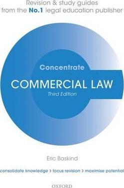 Books Commercial Law Concentrate: Law Revision and Study Guide Free Online