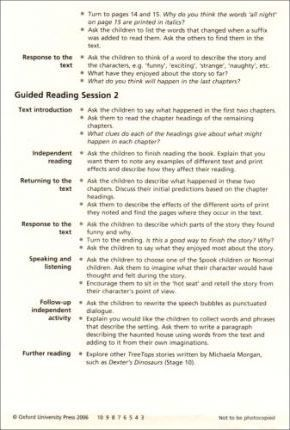 Oxford Reading Tree: Stage 9: TreeTops Fiction: Guided Reading Cards