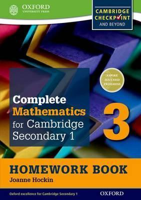 Complete Mathematics for Cambridge Secondary 1 Homework Book 3 (Pack of 15)