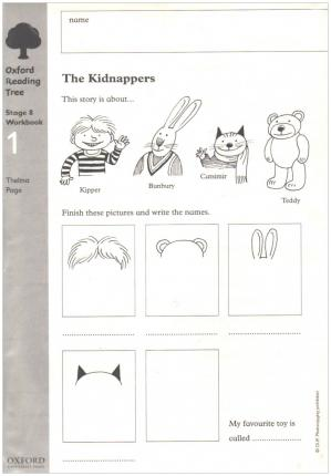 Oxford Reading Tree: Level 8: Workbooks: Workbook 1: The Kidnappers and Viking Adventures (Pack of 30)