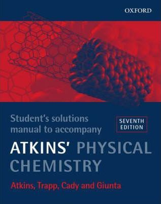 physical chemistry student s solutions manual to accompany atkins rh bookdepository com atkins instructor's solution manual 8e atkins solution manual free download