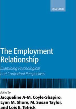 employment relationship Relationship to be strong, both dimensions of the employment contract need to be strong (see figure below)  too often, we see it as having to be one way or the other.