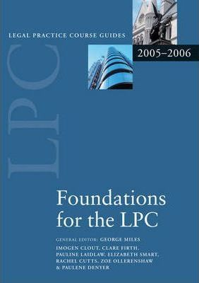 Foundations for the LPC 2006