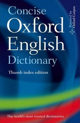 Concise Oxford English Dictionary: Thumb Index