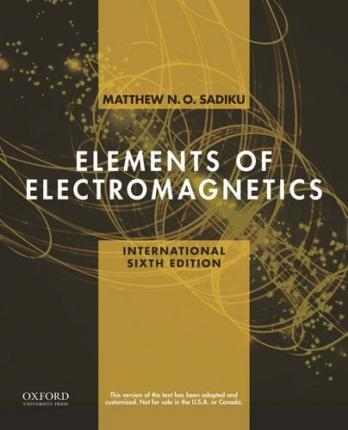Of pdf matthew electromagnetics sadiku elements