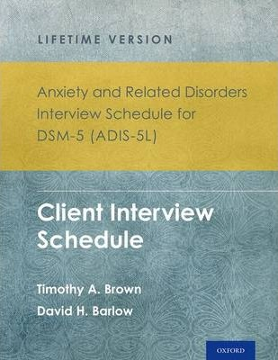 Anxiety and Related Disorders Interview Schedule for DSM-5 ...