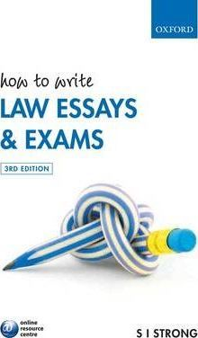 How To Write Law Essays And Exams  S I Strong   How To Write Law Essays And Exams Obesity Essay Thesis also Argumentative Essay On Health Care Reform  Persuasive Essay Example High School