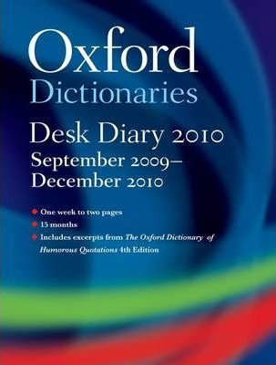 Oxford University Desk Diary 2009-2010