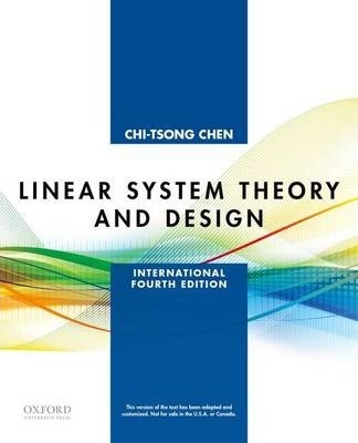 Linear System Theory And Design Chi Tsong Chen 9780199964543