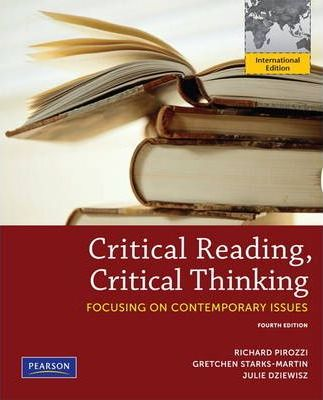 critical thinking and critical reading pirozzi