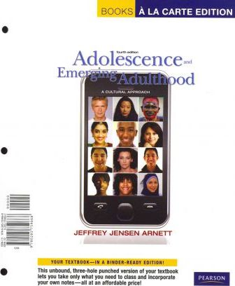 Adolescence and Emerging Adulthood  A Cultural Approach, Books a la Carte Plus Mydevelopmentlab with Etext -- Access Card Package