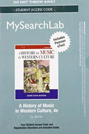 MySearchLab with Pearson eText -- Standalone Access Card -- for History of Music in Western Culture