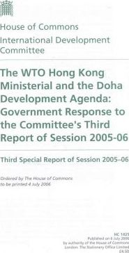 The WTO Hong Kong Ministerial And the Doha Development Agenda