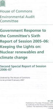 Government Response to the Committee's Sixth Report of Session 2005-06