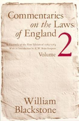 Commentaries on the Laws of England: v.2