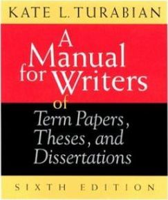 A Manual for Writers of Term Papers, Theses and Dissertations : Kate L. Turabian : 9780226816265 - 웹