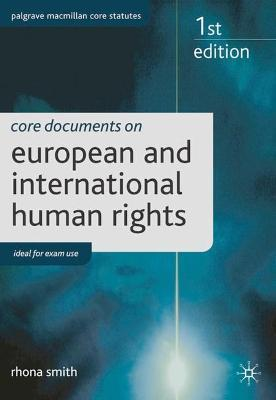 Core Documents on European and International Human Rights