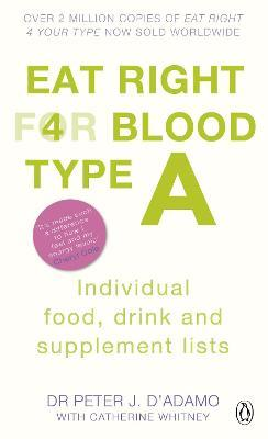 Eat Right for Blood Type A : Individual Food, Drink and Supplement lists