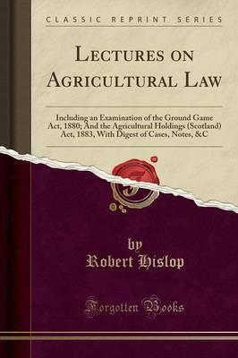 Lectures on Agricultural Law