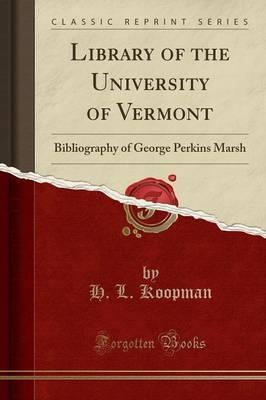 Library of the University of Vermont