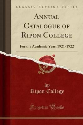 Annual Catalogue of Ripon College