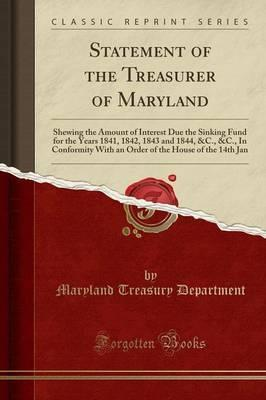 Statement of the Treasurer of Maryland