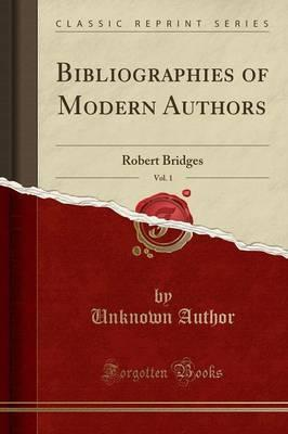 Bibliographies of Modern Authors, Vol. 1